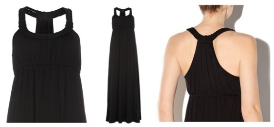 1 minute style file: Black cotton maxi dress, New Look, was £19.99 now £14.99
